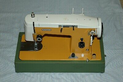 NEW Vintage Sewing Machine RADOM 465 Full Size, Complete Set with Case + Extras