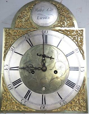 Fine Antique Scottish 8 Day Longcase Grandfather Clock Movement By Walter Scott