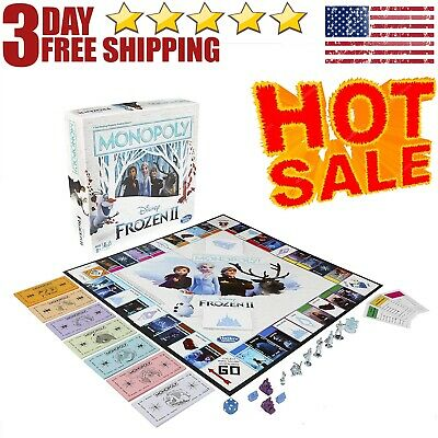 Monopoly Game: Disney Frozen 2 Edition Board Game - FREE SHIPPING USA STOCK