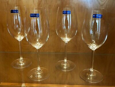 """Signed MARQUIS Waterford VINTAGE Classic 8 3/4"""" WHITE WINE GLASSES Set Of 4"""