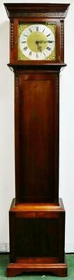 Antique Triple Weight Musical Westminster Chime Longcase Grandfather Clock