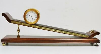 """Rare Vintage """"The Franklin Mint"""" Imhof Incline Plane Gravity Table Clock Working"""