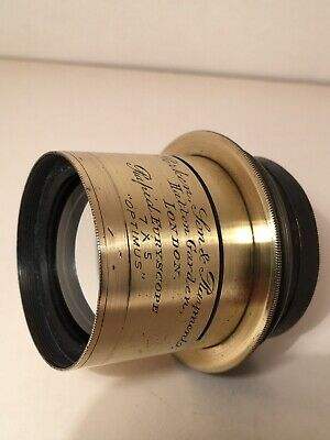 Antique Perkin Son & Rayment Rapid Euryscope 7x5 Camera Lens
