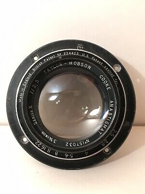"Antique Taylor Hobson Cooke Series X F/2.5 3 3/4"" Camera Lens"