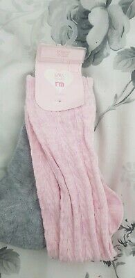 Girls 2 Pack Of Grey/pink patterned Sock,bnwt,mothercare,4-7yrs