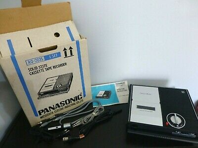 Vintage Panasonic Model RQ-203S Tape Recorder- Cassette With Cords,Mic,Manual