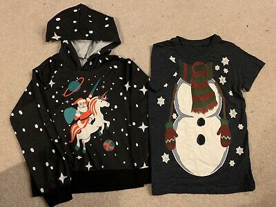 Next Boy Girl Christmas Hoody And T Shirt Age 6 Years BNWOT