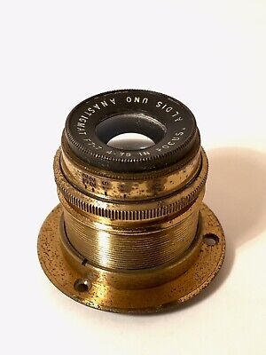 Antique Aldis Uno F7.7 4.75 Inch Focus Camera Lens