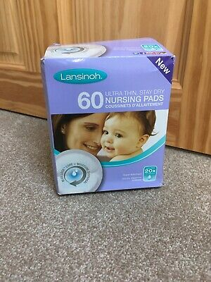 Lansinoh 60 Ultra Thin Stay Dry Nursing Pads New but Box Opened
