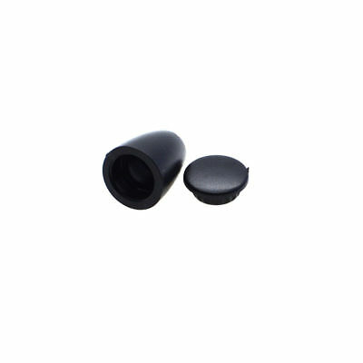 "Plastic Bell Stopper With Lid Cap Cord Ends Black 3mm 1/8"" 5pcs"