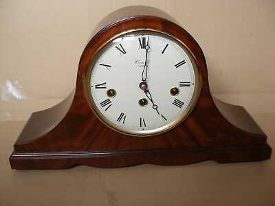 Comitti Of London Mahogany Napoleon Chime & Striking 8 Day Mantle Clock New