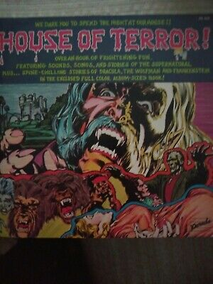 "Vintage ""House of Terror"" 2 lp and Large Comic Book"