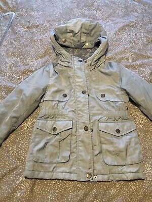 Next Pale Blue Quilted Coat Girl Age 6