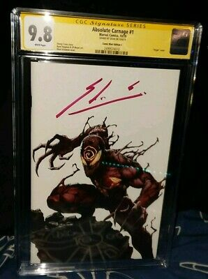 Absolute Carnage 1 Skan NYCC Secret Variant (White) CGC 9.8 Signature Series NEW