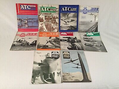 "WW2 RAF ''AIR TRAINING CORPS"" GAZETTE x 10, inc. copies from 1941,1942 and 1943."