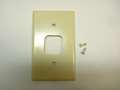 Vintage Ivory Telephone Jack 4 Prong Outlet Wall Cover Plate Phone
