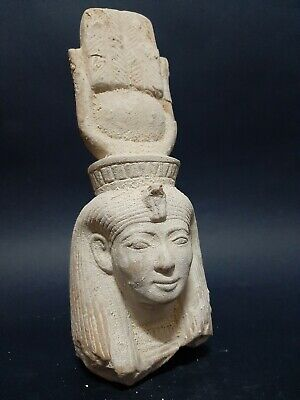 ANCIENT EGYPTIAN ANTIQUES Hathor GODDESS Of Sky Joy Music Love motherhood 1890BC