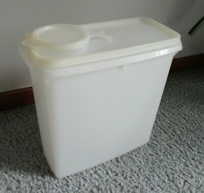 Vintage Tupperware Modular Mate Cereal Keepers #469 Opaque sheer white