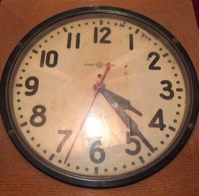 Vintage 1930 S General Electric Old School Clock
