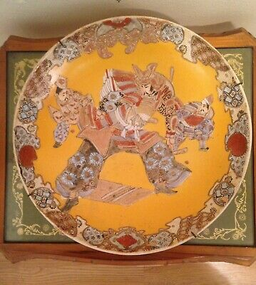 Rare old Antique Asian Satsuma Style Charger/ Plate, signed with Asian markings