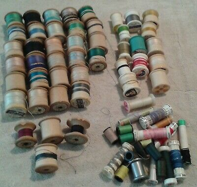 MIxed Lot of Vintage Cotton Reels