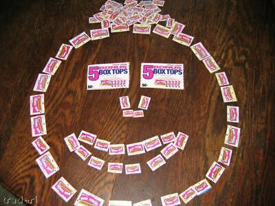 43 Box Tops For Education - BTFE - No Expired- Bonus APPROX 20 free Campbell pts