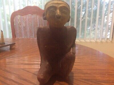LARGE !,ANCIENT PRE COLUMBIAN EFFIGY - MALE FIGURE -number 2