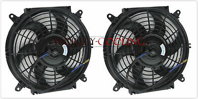 "2 pcs UNIVERSAL 10"" INCH ELECTRIC Cooling Radiator Fan & Mounting kits"