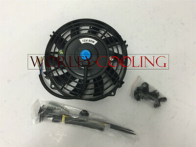 "7"" inch PULL/PUSH RADIATOR Electirc Thermo Curved Blade FAN & MOUNTING New"