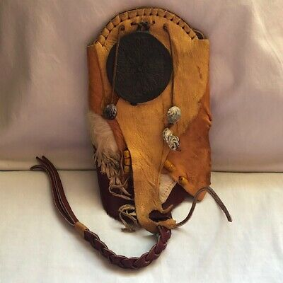 Hand Made Leather Pouch Cosplay Renaissance Festival Medallion Artisan Made