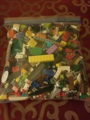 LEGO Bulk Lot of 2 Pounds Bricks Parts and Pieces Clean Genuine 2 LB Grab Bag
