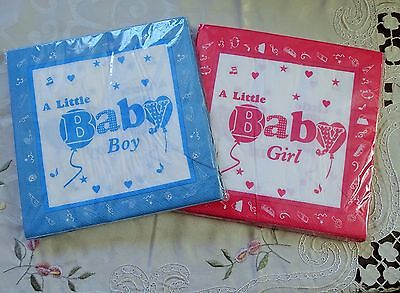 Baby Shower boys Girls Party 2 Ply Virgin Pulp Printed Paper Napkins Pack of 20