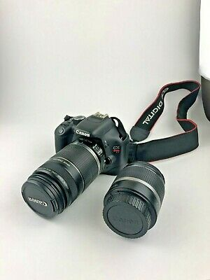 Cannon Rebel T2i EOS 550 D TWO Lenses Bag Included missing charger