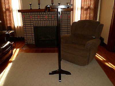 Antique 1920s Nightrack Garment Rack Wood Valet Stand Made in West Virginia