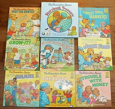 BERENSTAIN BEARS BOOK LOT 14 Picture Books Truth Manners Money Gimmies Dentist++