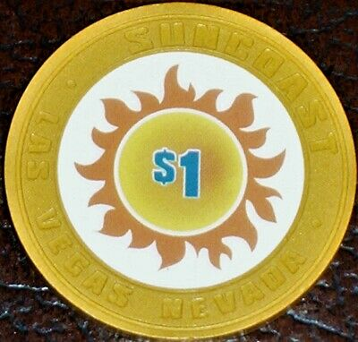 Old $1 SUN COAST Hotel Casino Poker Chip Vintage House Mold Las Vegas NV 2000