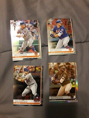 2019 Topps Chrome Pete Alonso Sepia,, base  both Update,  RC lot (4) Mets