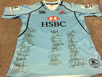 Limited Edition Signed 2013 NSW Waratahs Rugby Union Jersey- Size Large