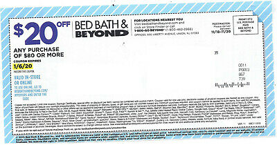 lot 2 Bed Bath and Beyond coupon - $20 off $80 or more, 20% off 1 item EXP: 1-6