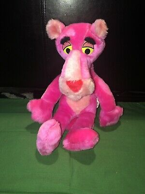 """VTG Mighty Star Plush Pink Panther Stuffed Animal Doll Toy 1980 15"""""""