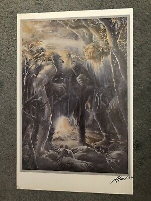 Alan Lee SIGNED Hobbit 'The Trolls' Art Print Lord Of The Rings Tolkien