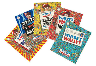 WHERE'S WALLY? SET OF 5 BOOKS by MARTIN HANDFORD  NEW