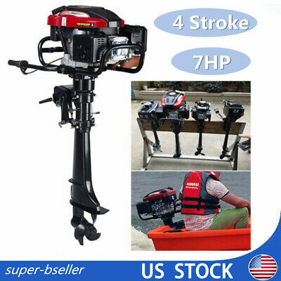 HANGKAI 7 HP 4 Stroke Transom Mount Outboard Motor ENGINE Air Cooling System US