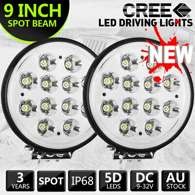 New Kings 9 inch LED Driving Lights Pair LED Spot Round 9inch Black Spotlights