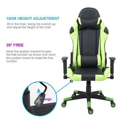 Gaming Racing Sport Office Chair Executive Recliner Adjustable Tilt Fx Leather