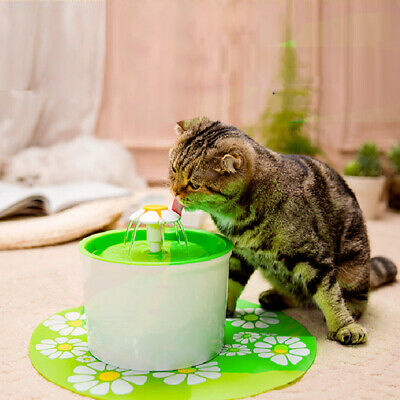 1.6L Automatic Electric Pet Cat Dog Water Drinking Fountain Bowl Filter.