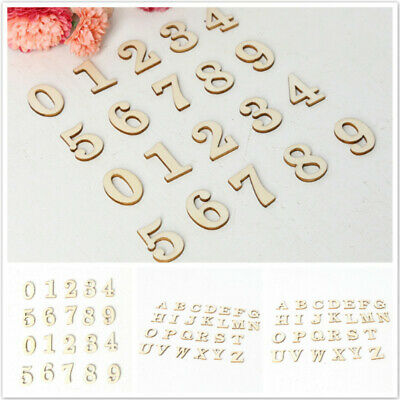 Wooden Alphabet Number Home Wall Decor Capital Letter Handmade Embellishments OE