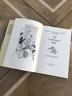 The Cook Hostess' Book Fanny & Johnnie Cradock 1970s Themed Cookery Food HB DW