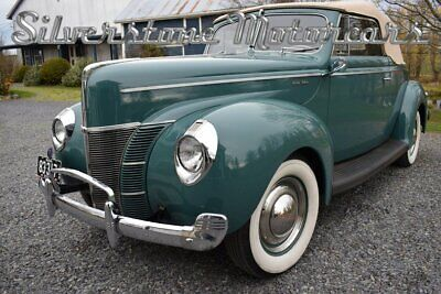 1940 Ford Deluxe  1940 Green Manual Flathead 8 Convertible Original Numbers Matching
