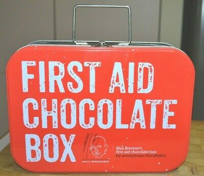 Max Brenner First Aid Chocolate Box for Anonymous Chocoholics Biscuit Tin Case